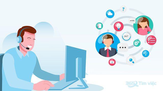 Điện thoại viên có chức năng hỗ trợ nhu cầu của khách hàng